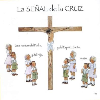 Cruz y niños